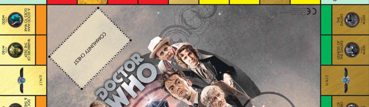 Doctor Who 50th Anniversary limited edition version of Monopoly