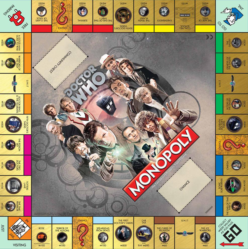 Spectacular savings on doctor who monopoly board game [50th.
