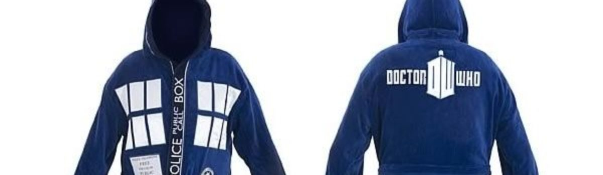 Doctor Who TARDIS Hooded Bath Robe