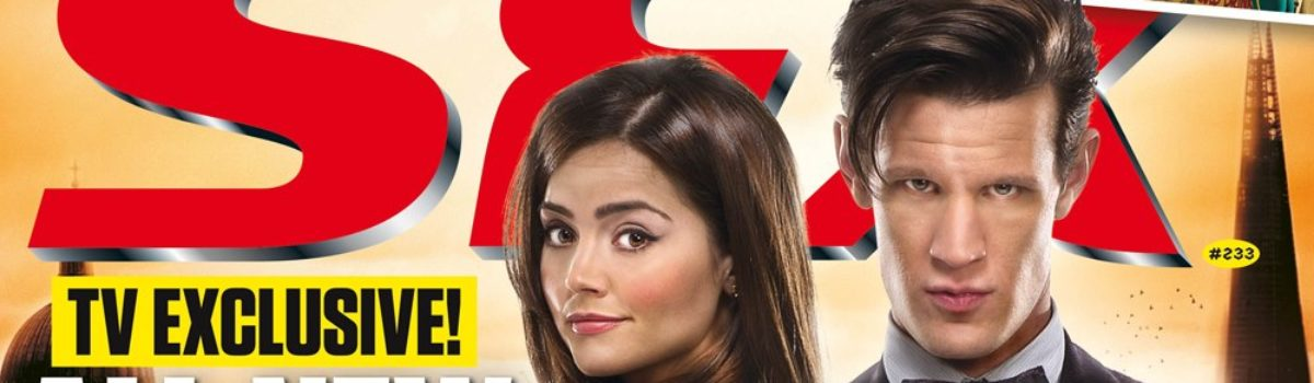 The Doctor and Clara on the cover of the May edition of SFX magazine