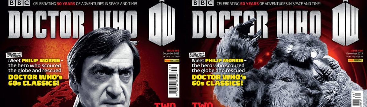 The new issue of Doctor Who Magazine (DWM issue 466) is out today